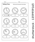 telling time telling the time... | Shutterstock .eps vector #1359959165