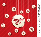 special offer poster with... | Shutterstock .eps vector #135996266