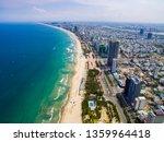 Aerial View Of Da Nang Beach...