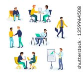 office workers at workplace... | Shutterstock .eps vector #1359964508