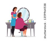 hairdressing  beauty salon flat ... | Shutterstock .eps vector #1359964538