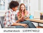 female students made team work... | Shutterstock . vector #1359974012