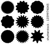 set of retro blank starburst ...   Shutterstock .eps vector #1359974045