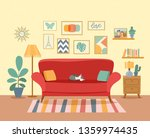 interior living room with... | Shutterstock .eps vector #1359974435