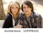 portrait of young sexy couple... | Shutterstock . vector #135998102