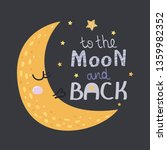 poster with moon  stars and...   Shutterstock .eps vector #1359982352