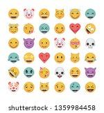 set of happy emoticon vector...   Shutterstock .eps vector #1359984458