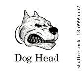 head dog hand drawn | Shutterstock . vector #1359995552