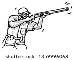 a trap shooter holding a... | Shutterstock .eps vector #1359996068