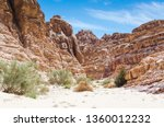high rocky mountains and green... | Shutterstock . vector #1360012232