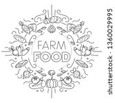 farm food. set of different...   Shutterstock .eps vector #1360029995