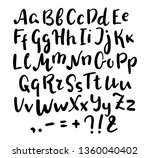 english alphabet handwritten... | Shutterstock .eps vector #1360040402