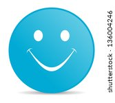 smile blue circle web glossy... | Shutterstock . vector #136004246