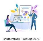 confident male business coach...   Shutterstock .eps vector #1360058078
