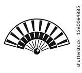 wood hand fan icon. simple... | Shutterstock .eps vector #1360064885