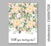 tropical hibiscus bouquet bride ... | Shutterstock .eps vector #1360067528