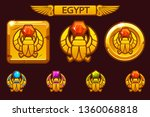 egyptian scarab symbol of... | Shutterstock .eps vector #1360068818