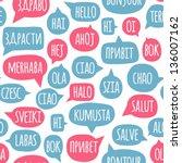 seamless pattern with speech... | Shutterstock .eps vector #136007162