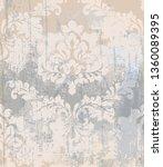 vector rococo pattern texture.... | Shutterstock .eps vector #1360089395