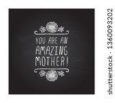happy mothers day handlettering ... | Shutterstock .eps vector #1360093202