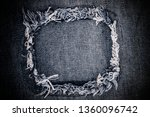 destroyed torn ripped denim... | Shutterstock . vector #1360096742