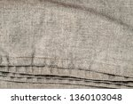 natural linen texture with... | Shutterstock . vector #1360103048