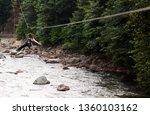 zipline adrenaline sport...   Shutterstock . vector #1360103162
