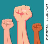 hands up fist   concept for... | Shutterstock .eps vector #1360107695