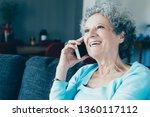 portrait of happy senior woman... | Shutterstock . vector #1360117112