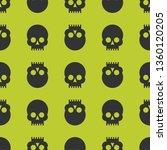 skulls seamless pattern | Shutterstock .eps vector #1360120205