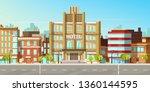 modern city  town street flat... | Shutterstock .eps vector #1360144595