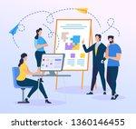 business trainer presentation... | Shutterstock .eps vector #1360146455