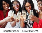 group of partying african girls ... | Shutterstock . vector #1360150295