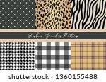 set of trendy fashion seamless... | Shutterstock .eps vector #1360155488