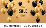 big sale background. gold and... | Shutterstock .eps vector #1360158695