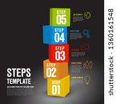vector five steps progress... | Shutterstock .eps vector #1360161548