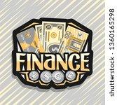 logo for finance  black label... | Shutterstock . vector #1360165298