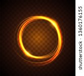 glowing light effect design | Shutterstock .eps vector #1360176155