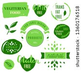 healthy food icons  labels.... | Shutterstock .eps vector #1360176518