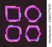 trendy neon banner design. | Shutterstock .eps vector #1360177655