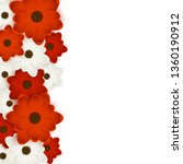 red and white flowers border... | Shutterstock .eps vector #1360190912