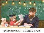 teacher and pupil in... | Shutterstock . vector #1360194725