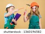 family remodeling house.... | Shutterstock . vector #1360196582