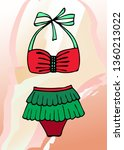 bright bathing suit on an... | Shutterstock .eps vector #1360213022