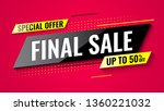 special offer final sale banner ... | Shutterstock .eps vector #1360221032