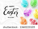 happy easter card with... | Shutterstock .eps vector #1360223105