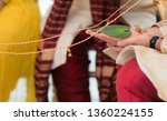 indian groom holding a ceremony ... | Shutterstock . vector #1360224155