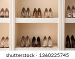 collection of new female shoes... | Shutterstock . vector #1360225745