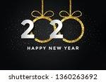 2020 happy new year background. ... | Shutterstock . vector #1360263692