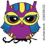 owl   t shirt graphics   cute... | Shutterstock .eps vector #136028132